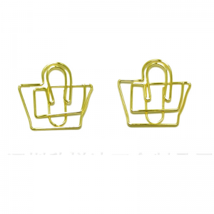 wire shaped paper clips in handbag outline, promotional gifts