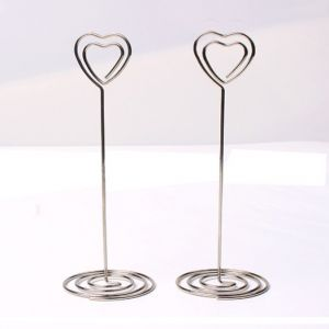 memo clips in the heart shape on the top, heart shaped memo holders