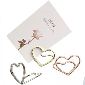 Heart Place Card Holders, Memo Holder Clips
