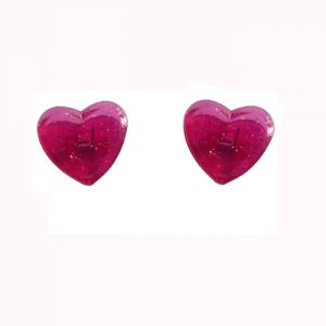 plastic paper clips in heart shapes, promotional paper clips