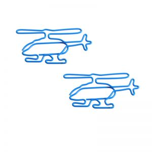 wire shaped paper clips in helicopter outline, aircraft paper clips