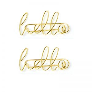 word shaped paper clips in