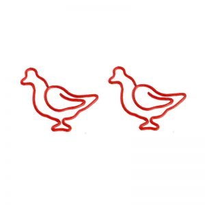 hen shaped paper clips, animal shaped paper clips