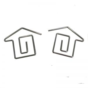 shaped paper clips in house outline, house shaped paper clips