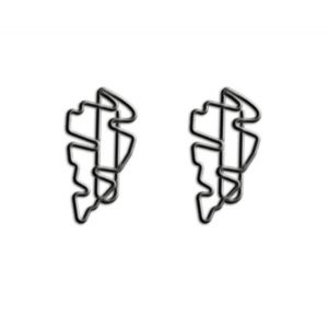 shaped paper clips in hurricane outline