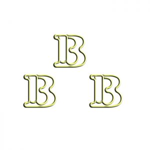 letter B shaped paper clips