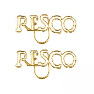 RESCO shaped paper clips, name paper clips