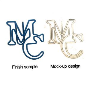 logo paper clips in the outline of letters-MC