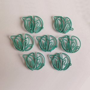 leaf icon shaped paper clips