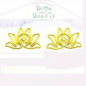 shaped paper clips in lotus outline, decorative accessories, creative gifts