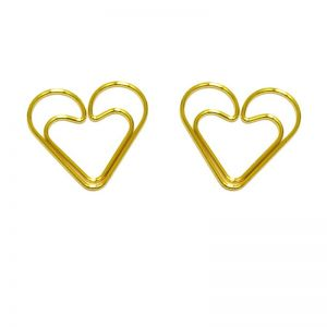 loving heart shaped paper clips
