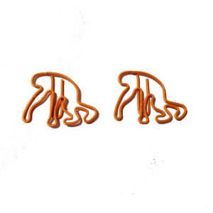 animal shaped paper clips in monkey outline