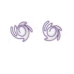 Nebula shaped paper clips