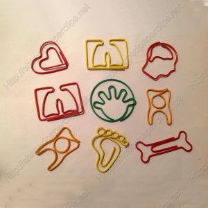 Body Parts Decorative Paper Clips | Promotional Gifts (1 dozen/lot)