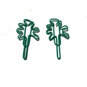 plant shaped paper clips in palm tree outline
