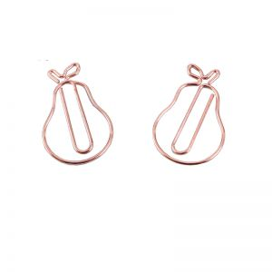 pear shaped paper clips in rose gold color