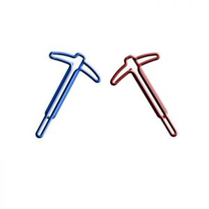 tool shaped paper clips in pickaxe outline, business gifts