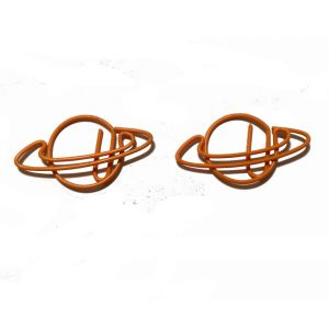 wire shaped paper clips in planet or earth outline
