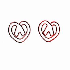 shaped paper clips in pretzel outline, food paper clips
