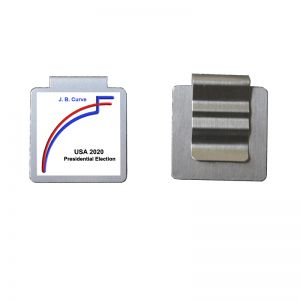 imprinted stainless steel bookmark paper clips; promotional paper Clips