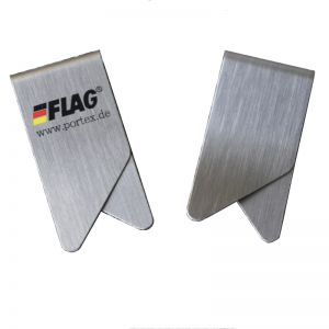 imprinted stainless steel paper clips, promotional paper clips