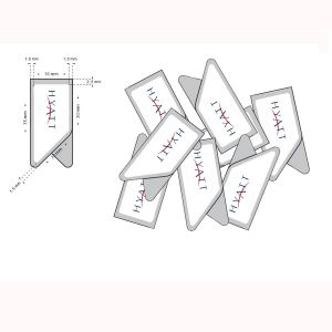 imprinted promotional paper clips, stainless steel bookmark paper clips