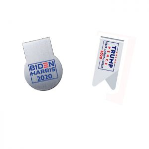 printed stainless steel paper clips, promotional paper clips (US election 2020)