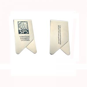 stainless steel paper clips & bookmarks, imprinted promotional paper clips