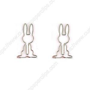 rabbit shaped paper clips, Hare paper clips