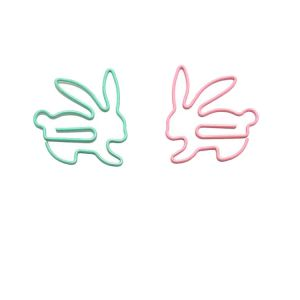 animal shaped paper clips in rabbit outline