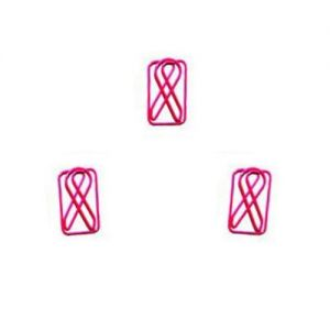 shaped paper clips in ribbon outline, clothes paper clips
