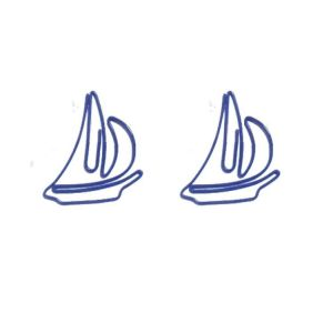vehicle shaped paper clips in sailboat outline