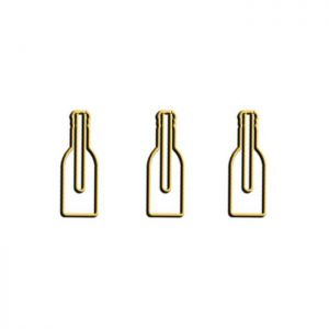 shaped paper clips in beer bottle outline, houseware paper clips
