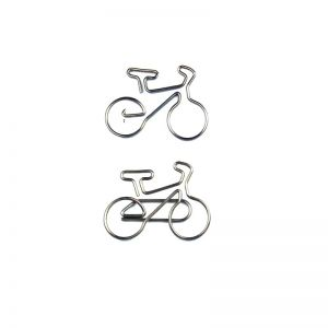 bike shaped paper clips, bicycle shaped paper clips