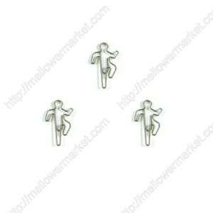 sports shaped paper clips in climbing outline