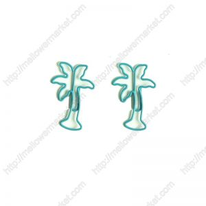 coconut tree shaped paper clips, plant paper clips
