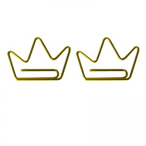 crown shaped paper clips, decor accessories, business gifts -1