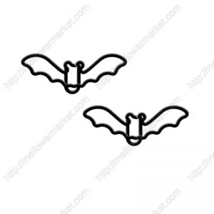 animal shaped paper clips in bat outline, Holiday ornaments for Halloween.
