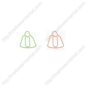 handbag shaped paper clips in colored wire