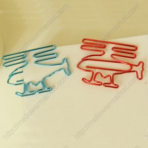 vehicle shaped paper clips in helicopter outline