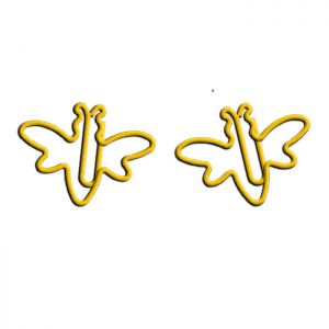 wire shaped paper clips in honey bee outline, insect shaped paper clips