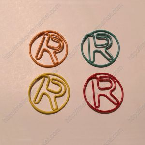 Letter R Paper Clips,Creative Gifts (1 dozen/lot,19*33 mm)