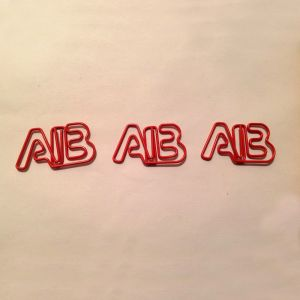 letters AB shaped paper clips