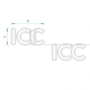 Letters ICC Paper Clips | Advertising Gifts (1 dozen/lot)