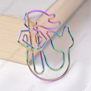 mermaid shaped paper clips in chromatic colors