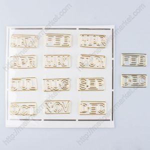 Month Paper Clips | Letter Paper Clips | Creative Bookmarks (250 dozen/shape)