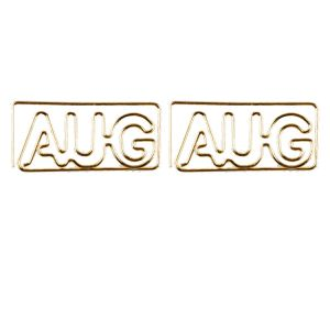 AUG shaped paper clips, letters paper clips