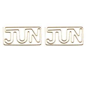 shaped paper clips in the abbreviated month name - JUN