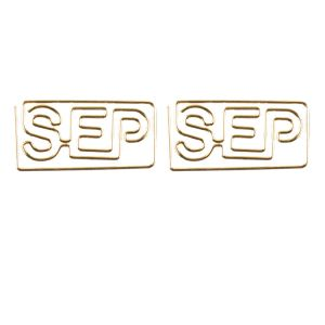 shaped paper clips in month name outline - Oct