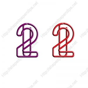 shaped paper clips in number-2 outline